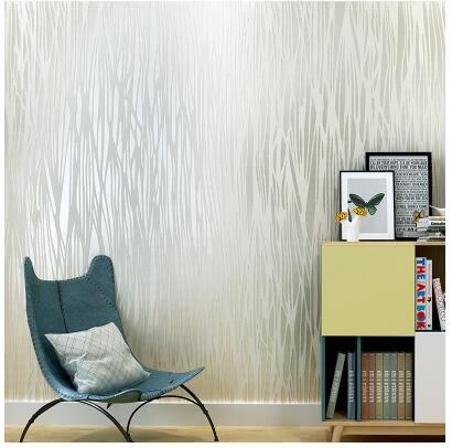 現代簡約時尚曲線條紋無紡布壁紙素色純色滿鋪臥室客廳背景牆牆紙