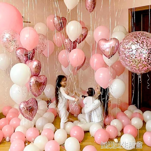 婚禮布置加厚仿美氣球婚房室內裝飾用品戶外氣球拱門生日派對氣球