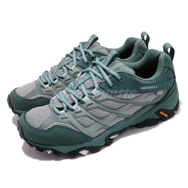 Merrell 戶外鞋 Moab FST WTPF 綠 灰 低筒 防潑水 女鞋 【ACS】 ML37560
