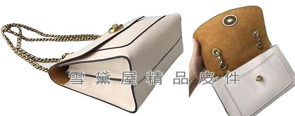~雪黛屋~COACH 斜側包中容量肩斜側國際正版保證進口防水防刮皮革材質品證購證塵套提袋C268521