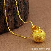 沙金項錬女歐幣鍍金首飾仿真假黃金越南純金色18K吊墜飾品 漾美眉韓衣