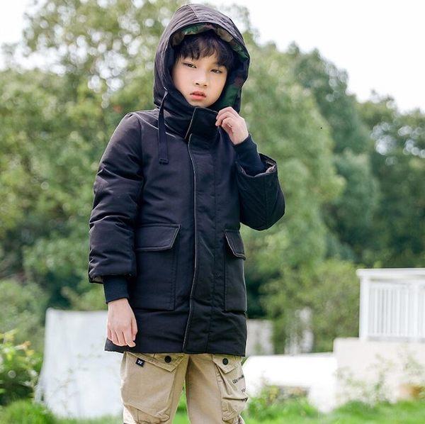 男童2019新款韓版羽絨棉服中大童軍工裝外套 棉衣童裝帥氣迷彩冬裝上衣 時尚潮流保暖外衣