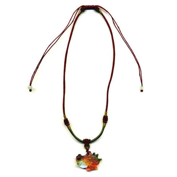 鹿港窯~居家開運水晶琉璃項鍊~金魚◆附精美包裝◆免運費送到家