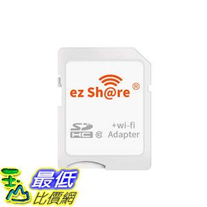 [9美國直購] ez Share 無線網路記憶卡 8GB 16GB 32 GB Adapter WiFi 10 SD card Wireless card Camera (Adapter)