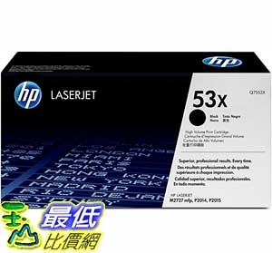 [9美國直購] 碳粉匣 HP 53X | Q7553X | Toner Cartridge | Black | High Yield