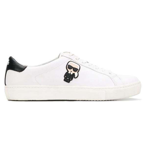 Karl Lagerfeld 卡爾 老佛爺 鞋 KOURT Q版綁帶休閒男鞋-白