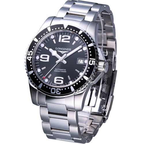 L37424566 浪琴錶 LONGINES SPORT 水鬼系列 機械潛水錶 41mm 黑面