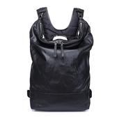 真皮後背包-牛皮電腦包大容量休閒男雙肩包73xp21[時尚巴黎]