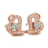 耳環 925純銀鑲鑽-高貴大方生日情人節禮物女飾品2色73dm147【時尚巴黎】