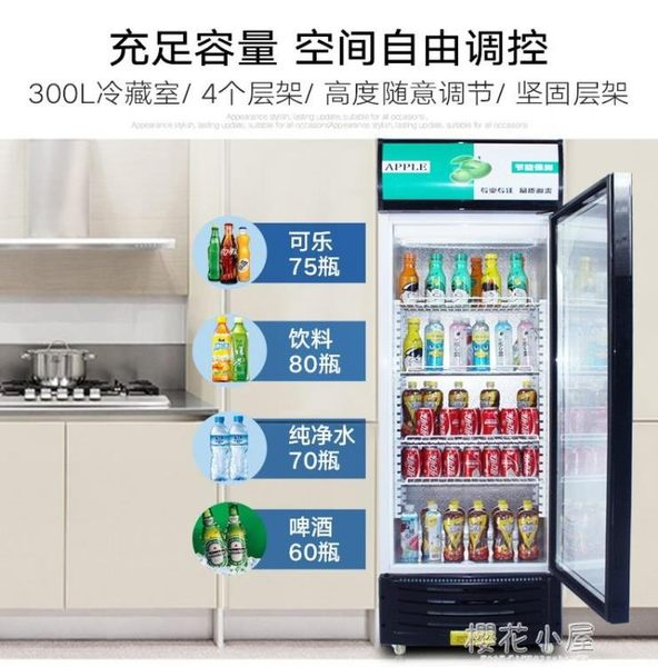 維仕美冰櫃商用立式展示櫃冷藏櫃超市冰箱飲料櫃單門雙門保鮮櫃igo『櫻花小屋』