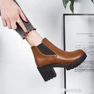 chic馬丁靴女英倫風裸靴子女短靴高跟女...