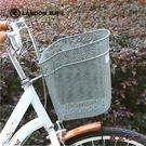 聯德樂自行車車籃鐵車筐自行車配件細網格金屬車筐前車簍