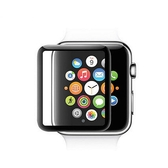 蘋果手錶Apple Watch 3D曲面鋼化玻璃保護膜保護貼-黑色42mm
