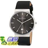 [104美國直購] Skagen 男士手錶 SKW6101 Ancher Quartz 3 Hand Date Stainless Steel Black Watch $4619