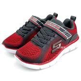 《7+1童鞋》中童 SKECHERS 輕量 透氣 慢跑運動鞋 B972  紅色