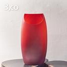 【3,co】玻璃月型口扁平花器(9號) - 紅