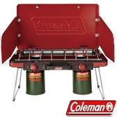 【速捷戶外】美國Coleman CM-21950瓦斯雙口爐 瓦斯爐 爐具~不鏽鋼材質 自動點火裝置