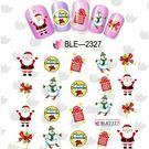 美甲貼紙 BLE2327  老公公聖誕系  指甲貼紙 水印美DIY裝飾貼紙 想購了超級小物
