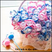 史迪奇水滴巧克力二入糖果原子筆棒(2色各半)x100支+大提籃x1個-生日分享/婚禮小物/二次進場