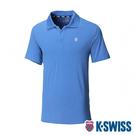 K-SWISS PF Logo Polo排汗POLO衫-男-藍