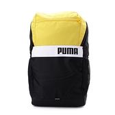 PUMA PLUS 撞色後背包 黃 077292-08