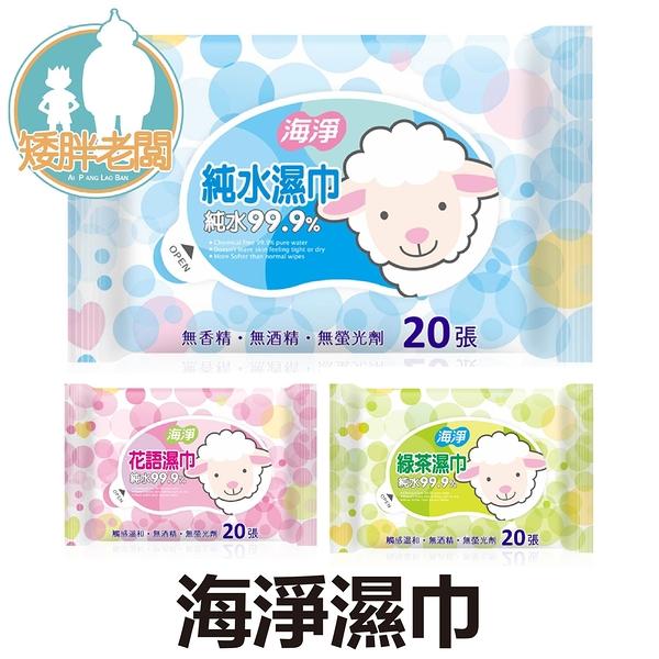 SGS海淨濕紙巾 奈森克林海淨濕紙巾 20抽 多種款式可選 純水 無酒精 無螢光劑 濕紙巾【A444】