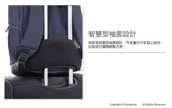 Samsonite新秀麗 IKONN II商務多功能筆電後背包L(淺灰色)