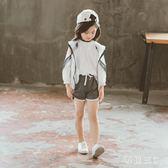 中大尺碼女童防曬衣套裝新款中大童韓版潮洋氣兒童運動兩件套 zm4895【每日三C】