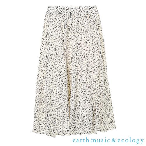 「Hot item」點點/碎花圖案定番長裙 - earth music&ecology