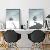 壁畫 現代簡約北歐風格  路裝飾畫  客廳掛畫臥室餐廳玄關壁畫 夢藝家
