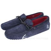 TOD'S FOR FERRARI GOMMINO 麂皮豆豆休閒鞋(深藍色) 1620003-34