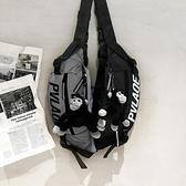 潮牌斜挎包運動男包日系小背包男士反光胸包嘻哈潮流單肩學生腰包 伊衫風尚