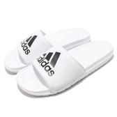 adidas 拖鞋 Voloomix Slides 白 黑 男鞋 女鞋 回彈中底 涼拖鞋 運動拖鞋【PUMP306】 CP9447