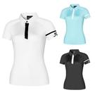 高爾夫 高爾夫服裝短袖T恤女士天藍色白色修身速干百搭高爾夫女球