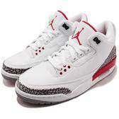 Nike Air Jordan 3 Retro Katrina Hall Of Fame 白 紅 爆裂紋 AJ3 喬丹3代 男鞋 【PUMP306】 136064-116
