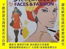 二手書博民逛書店Sketchits!罕見Faces & Fashion: Draw, Doodle, Design, Decora