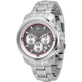 【MASERATI TIME】瑪莎拉蒂/ACTIVE POLO三眼石英計時腕錶 R8873637003