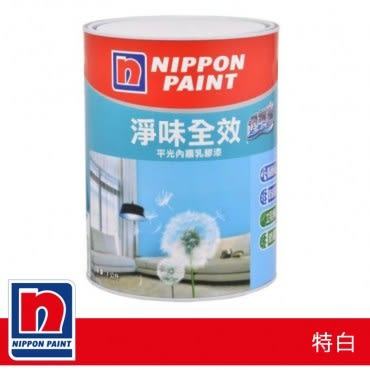 Nippon Paint 立邦 淨味透氣寶平光內牆乳膠漆 1L 特白