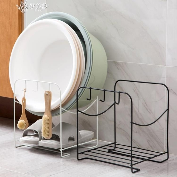 居家家鐵藝落地臉盆架臉盆置物架衛生間浴室廁所洗臉盆架子收納架    伊芙莎
