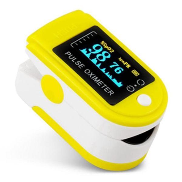 家用脈搏血氧儀手指夾式測量計血氧飽和度檢測儀心率跳動監測醫用 芥末原創