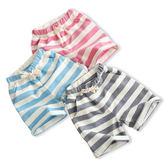 短褲  夏款簡約純棉橫條紋五分褲 S55011