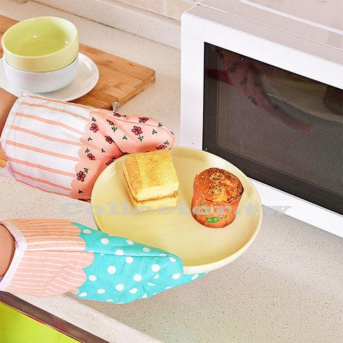 小清新烘焙專用加厚耐高溫隔熱手套 廚房微波爐烤箱防熱防燙專用