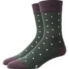 紳士西裝襪 中高筒男襪原創設計新款歐美紳士西裝商務彩色小圓點純棉春【快速出貨八折下殺】