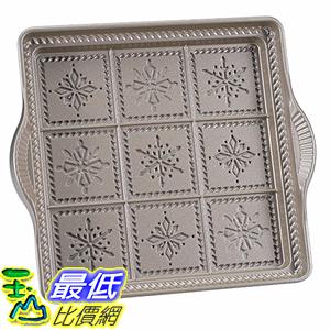 [美國直購] Nordic 03148AMZ Ware Snowflake Shortbread Pan, Silver 雪花 方塊餅乾烤盤