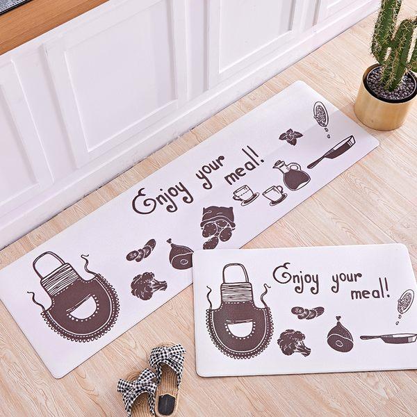時尚創意地墊270 廚房浴室衛生間臥室床邊門廳 吸水長條防滑地毯(45*120cm)