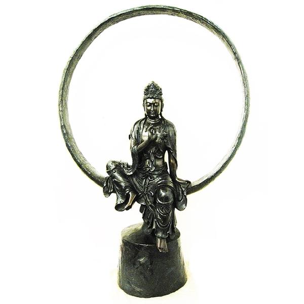 富貴吉祥......圓觀音 佛像 銅雕 Guanyin (a Bodhisattva)