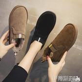 短靴 短筒雪地靴女2020秋冬季新款百搭網紅平底保暖加絨加厚短靴棉鞋子 伊蒂斯