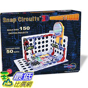 [美國直購] Elenco SC-3Di 電子益智品 Snap Circuits 3D Illumination Electronics Discovery Kit
