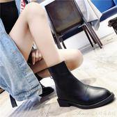倒靴馬丁靴女后拉鍊秋冬英倫復古短筒平底短靴中跟粗跟女靴子 艾美時尚衣櫥