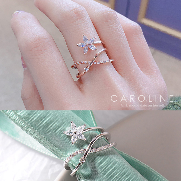 《Caroline》★韓國熱賣造型時尚  質感精緻迷人氣質戒指71283